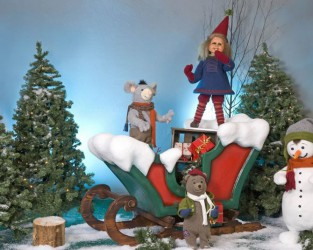 Santa Girl Dancing With 3 Friends <span>D 5 x W 11 x H 6</span>