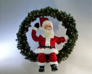 Santa Claus In A Fir Wreath <span>W 6 x H 7</span>