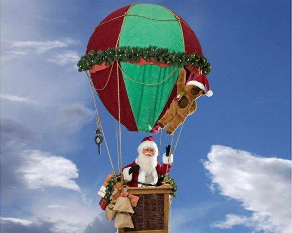 Santa In Flying Parachute <span>H 14 ft</span>